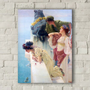 Lawrence Alma Tadema: A Coign of Vantage. Canvas Art Print