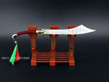 Chinese sword broadsword heavy sword for Blood Zombies metal 17cm 曲柄刀 1/6