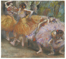 DANCE ART PRINT - Dancers with Fans, c. 1898 by Edgar Degas Ballet Poster 14x11