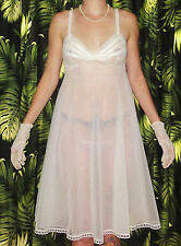Vintage Blanche Babydoll Nightgown 32 Bust Lace pinup clothing girl retro ILGWU