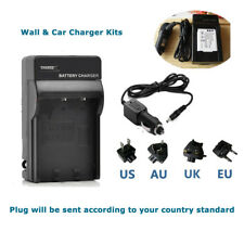 AC Wall+Car Battery Charger For Sanyo DB-L80 Xacti VPC-CG100 VPC-CG102 VPC-CG20