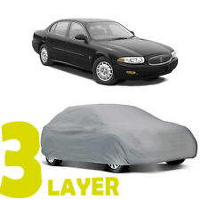 TRUE 3 LAYERS GRAY FITTED CAR COVER OUTDOOR WATER RESISTANT for BUICK LESABRE