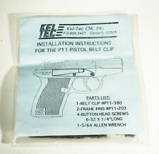 Kel-Tec P11 Pistol Belt Clips with instructions, New in Package BLUED
