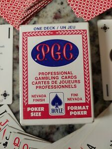 "Hoyle PGC ""21"" Special Professional Gambling Cards No.1051 Nevada Finish Poker"