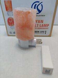 Himalayan Salt Lamp Night Light Natural Pink Crystal Air Purifier Rock  2 Bulbs