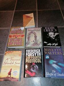 Reading books novels selection collection 7 hardbacks paperbacks