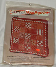 Bucilla 4833 Pulled Thread Needlepoint Pillow 14 Inch Square Box Shape Lacy New