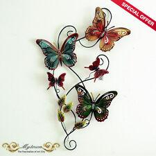 Handmade Metal Wall Sculpture Art Hanging Butterfly Flower Decoration Gift 80cm
