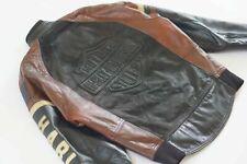 Harley Davidson Mens Vintage USA Made Cruiser Bomber Emboss B&S Leather Jacket L