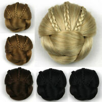 Lady's Braids Bun Chignon Brides Donut Clip on Bun Updo Cover Hair Extensions