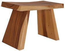 Rustikaler Hocker Bank Schemel Handarbeit Asien Möbel China massiv Holz neu 60CM