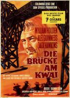 Die Brücke am Kwai ORIGINAL A1 Kinoplakat William Holden / Alec Guinness / BRAUN