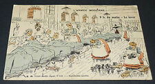 CPA CARTE POSTALE 1910 HUMOUR MILITARIA CONSCRITS ARMEE MODERNE LEVER 9 H MATIN
