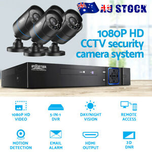 4 CCTV Camera Security System 4CH DVR HD 1080P Indoor Outdoor IP Kit Day Night