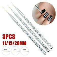 3Pcs Acrylic Nail Brushes Set Marble Handle Liner Painting Pen Nail Art Tools JT