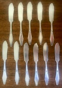 11 HOLMES & EDWARDS INLAID BUTTER KNIVES - HOSTESS PATTERN