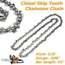 "1Pc Chainsaw Chain 3/8"" .058"" 84DL Semi Chisel Skip Tooth for Husqvarna 24'' Bar"