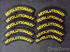 Revolucionario Tela Títulos Para El Hombro Parches Insignias x 10,