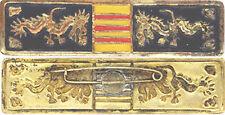 M.M.F, G.V.N, barrette Instructeur, métal peint, corps lisse, Artisanal (A42)