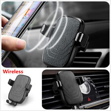 Air Vent Mount Qi Fast Wireless Charging Car Phone Holder charger For Iphone S8