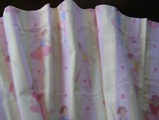 Laura Ashley Kid Cotton Pink & Yellow Valance With Ballerina Curtain for Window
