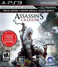 PS3 Playstation 3 Assassins Creed III Special Ed Complete w/Benedict Arnold Pack