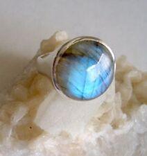 Ring mit Labradorit, 925er Silber, Gr. 20
