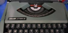 Vintage manual typewriter working Olivetti lettera with case.