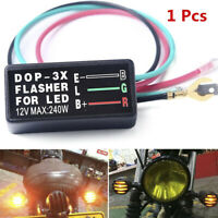 3Pin 12V Universal Motorcycle LED Turn Signal Light Flasher Relay Blinker Saf FA