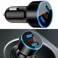 3.1A Dual USB Car Fast Charger Adapter 2 Port LCD Display Cigarette Socket JP