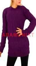 Womens Baggy Jumper Ladies Cable Knit Sweater Oversized Casual Pullover Tops
