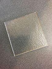 10 x Square 10x10cm Bullseye Fused Glass COE 90 Tekta Clear 3mm Kiln Supplies