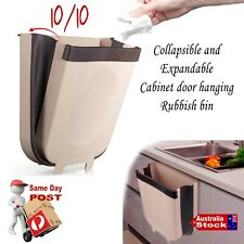 FOLDING GARBAGE RUBBISH BIN KITCHEN DOOR HANGING WATERPROOF WASTE BINS TIDY HANG
