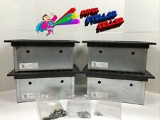 4 Electrical Amp Data Galvanized Steel Floor Box Five Gang Iaf 3 2 Blk Hinged Lid