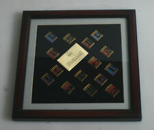 1996 ATLANTIC OLYMPIC 15 PIECE PIN SET - EXCELLENT CONDITION IN FRAME