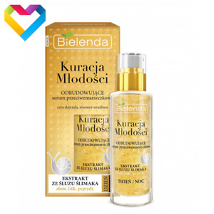 Bielenda Rebulding Anti Wrinkle Face Serum with Snail Slime Extract and 24K Gold