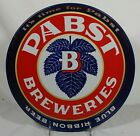 Old 1940's Pabst Blue Ribbon Beer Tin Litho Serving Tray Milwaukee Wisconsin WI