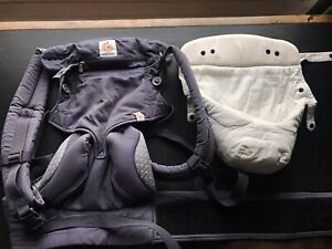 used ERGOBABY 360 4 positions Blue carrier with Newborn baby insert