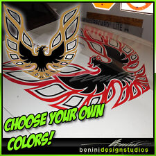 "Pontiac Firebird Trans Am Hood Bird Custom Decal 45""x45"" All Years 2 Color"