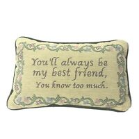 Small Tapestry Accent Pillow Rectangle Best Friend Humor Decorative