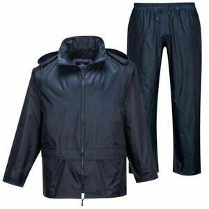 Waterproof Rain Suit Jacket & Trousers Set Sizes S - XXL Wet Weather Suit UK