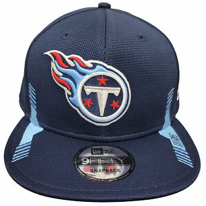 Men's New Era 9Fifty Tennessee Titans Navy Blue Home Sideline Snapback