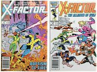 X-Factor 1 and 5 Newsstand Variant First Apocalypse Cameo Marvel Comic 1985 1986