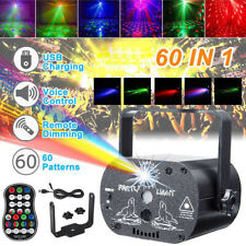 60 Muster Muster RGB Laserlicht DJ Projektor Disco LED Beleuchtung Home Party