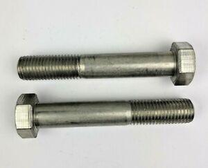 UGIVIS M20 x 120mm Hex Bolt Part Thread, A4-80 Marine Grade SS. Pack of 2.
