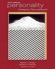 Personality: Contemporary Theory and Research (with InfoTrac) by Derlega, Valer