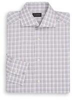 $475 Ermenegildo Zegna **BLACK LABEL** Italian luxury dress shirt Sz 15.5