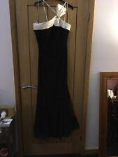 Bernshaw Full Length Evening Dress 16 Black / Ivory Beautiful Dress