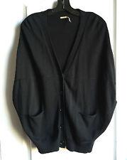 NEW Max Studio women's cocoon short sleeve black cardigan XS