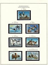 STATE OF MINNESOTA HUNTING PERMIT STAMPS 1977-2004 MOUNTED ON 4 PAGES BT6311